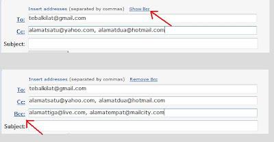 Cc dan Bcc pada Email