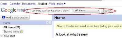 cara menggunakan Google Reader
