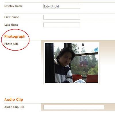 cara meletakkan foto di profile blogger