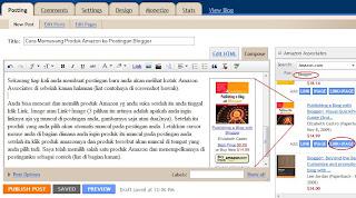 cara memasang produk amazon ke postingan blogger