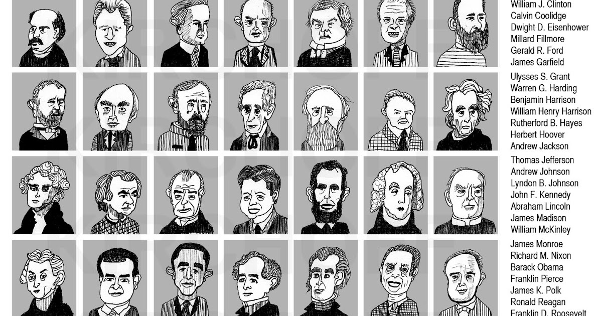 Chelsea kirchoff presidents of america for Pictures of all presidents of the united states in order