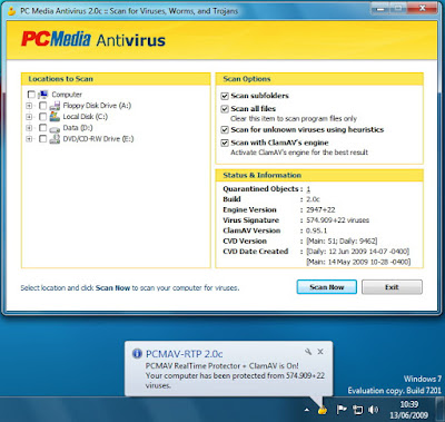 Antivirus Download PCMAV 2.0c Update Build 1 + Clamav