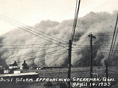 photo, Dust Storm Approaching Spearman, Texas (1935), NOAA/DoC; from NOAA's National Weather Service (NWS) Collection