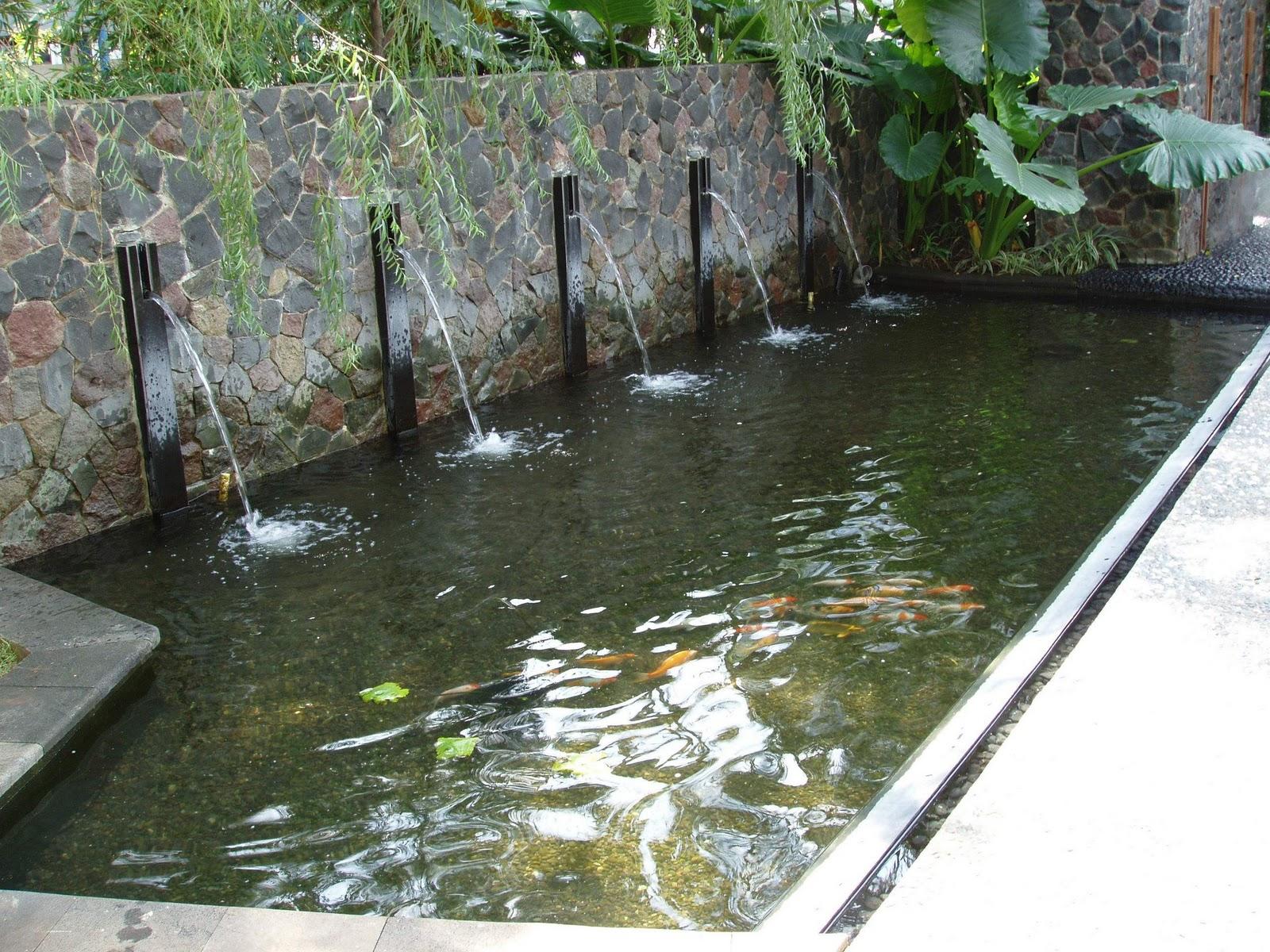 ide desain pond kolam mini vano architect