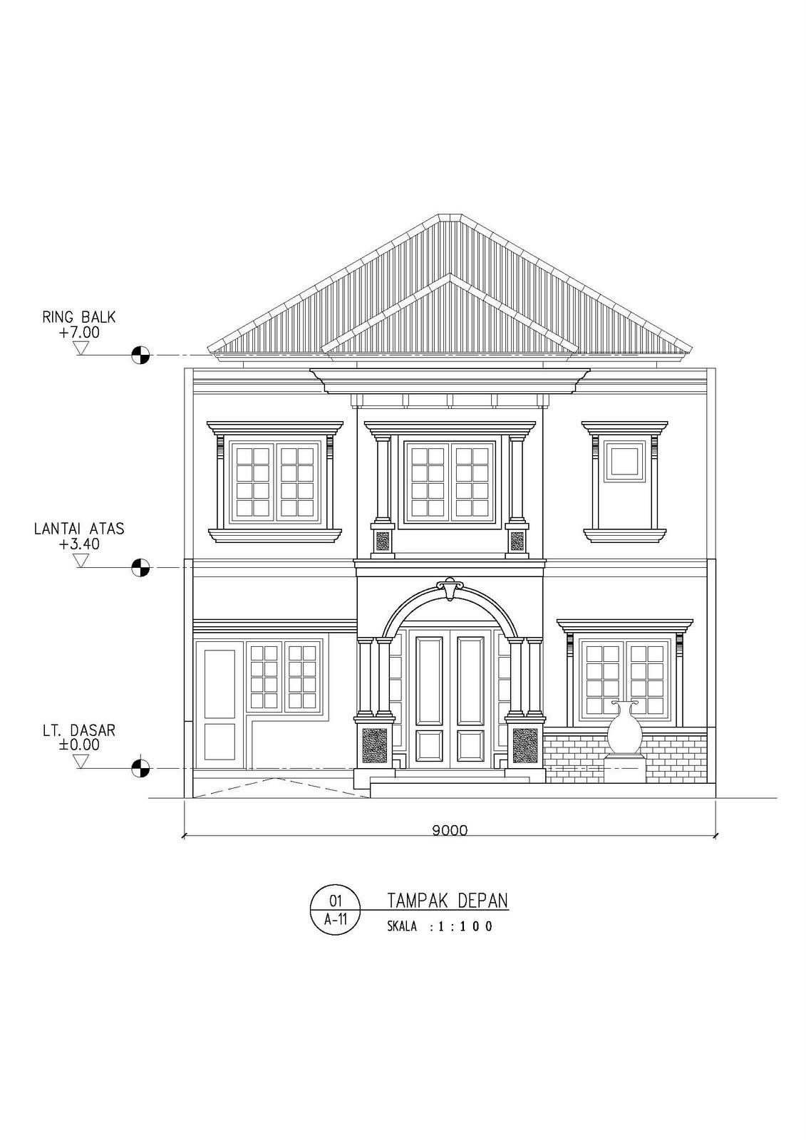 desain rumah klasik eropa 190m2 vano architect