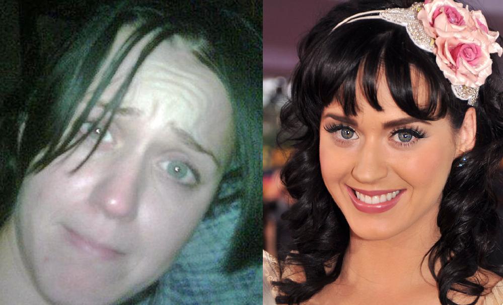 Katy perry no makeup or wig