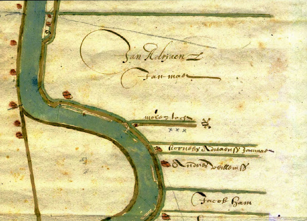 Map Section Waddinxveen in the 17th Century