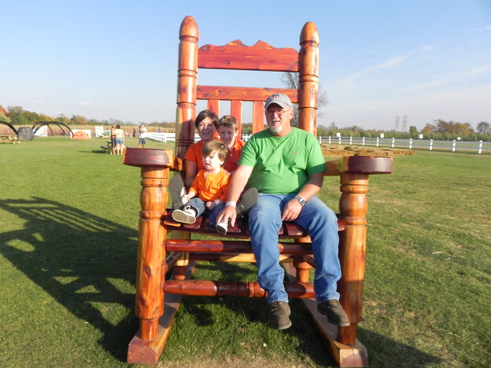 This chair is huge. Bryan Bros  Gull Meadow Farms