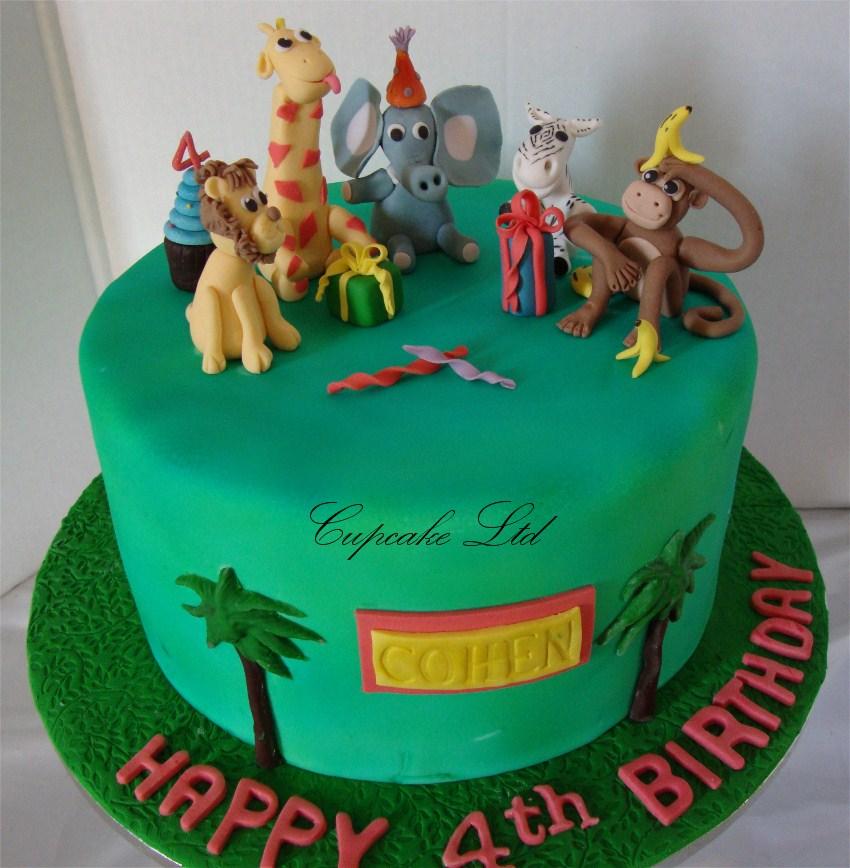 Cake Designs Animals : CupcakeNZ: Jungle Animal Cake