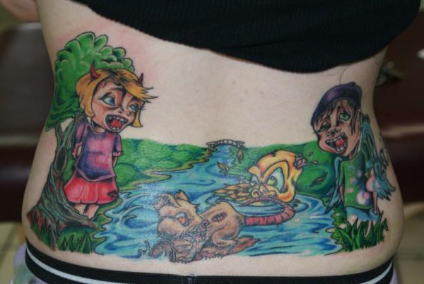 Tribal Tattoo Tramp Stamp. Tramp Stamp Tattoo Pictures