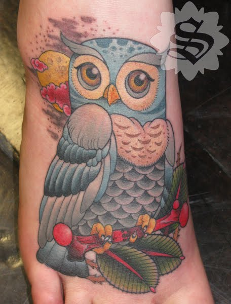 Owl Tattoos On Feet Picture 4