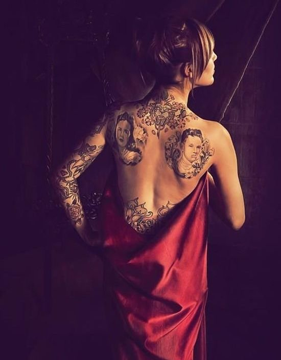 hot tattoo designs. Hot Model Tattoo Designs