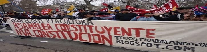 PLATAFORMA  DE  APOYO  A UNA  ASAMBLEA  CONSTITUYENTE  PARA  CHILE