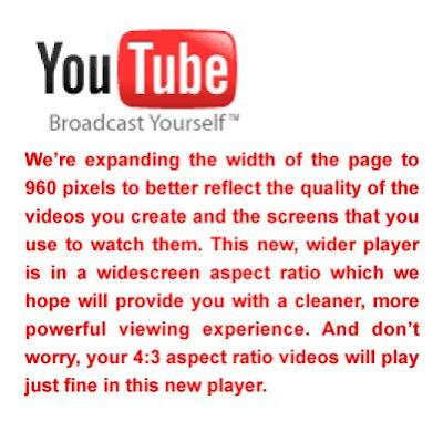 YouTube Widescreen