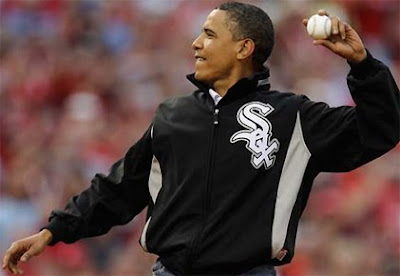 Barack Obama First Pitch Video