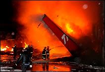 Accident d'un A-320 de la compagnie brésilienne TAM près de l'aéroport Congonhas de Sao Paulo le 18 juillet 2007. Document Belga.