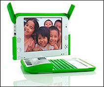 La concrétisation du projet OLPC : le portable XO.