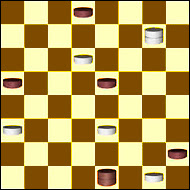 Depuis 1910, les joueurs de dames anglaises ont toujours dit que dans cette configuration de jeu, les blancs allaient gagner. En moins d'une seconde, l'ordinateur Chinook a démontré le contraire.