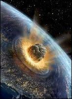 L'impact redouté d'un astéroïde. Document David Hardy.