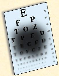 Simulation de l'effet de la dégénérescence maculaire dans le champ de vision.