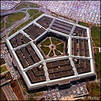 Vue aérienne du Pentagone. Document AP.