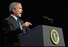 M.Bush le 22 août 2007. Document AFP.