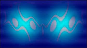Représentation artistique des fameux bits quantiques ou qubits. Document U.Melbourne/Marc Coe.