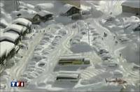 Isola 2000 sous la neige le 7 février 2009. Document TF1/LCI.