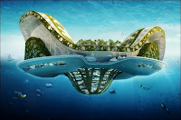 Une Lilypad en perspective. Document Vincent Callebaut Architectures.