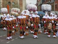 Le carnaval de Binche le jour du Mardi gras.