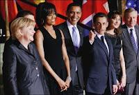 Les chefs d'Etats au sommet de l'OTAN.