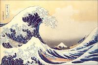 La 'grande vague' au large de la côte de Kanagawa avec le Mt Fuji à l'arrière-plan. Cette célèbre peinture sur bois a été réalisée entre 1823-1829 par Katsushiba Hokusai. Elle représente le tsunami qui déferla sur le Japon au 18eme siècle. Un phénomène de cette ampleur existe dans la  finance, c'est la 'vague d'Elliott'