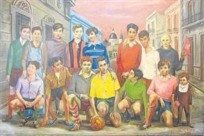 El fútbol pintado