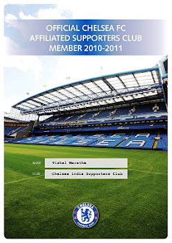 Official Chelsea FC Affiliated Supporters Club Member 2010-11