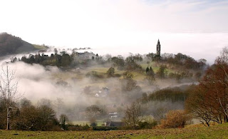 Abberley Tower In Mist - Andrew Mawby