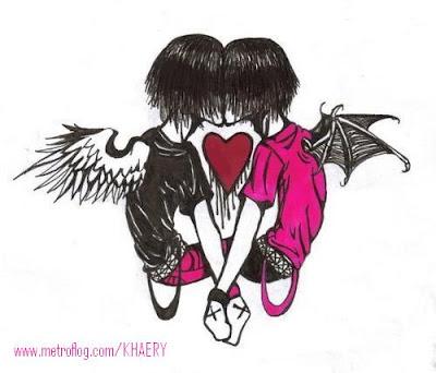 dibujos de amor emo. dibujos de amor emo.