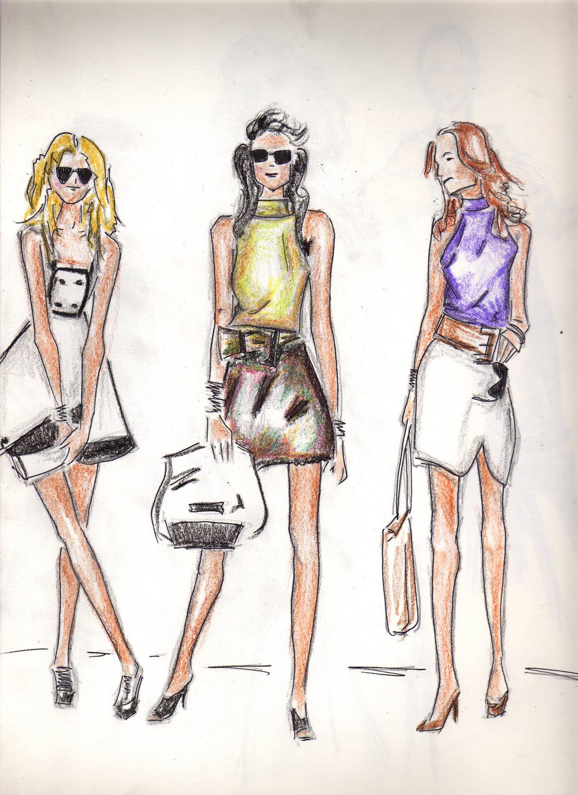 Apunta alto for Dibujos de disenos de moda