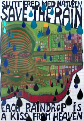 'save the rain' by hundertwasser
