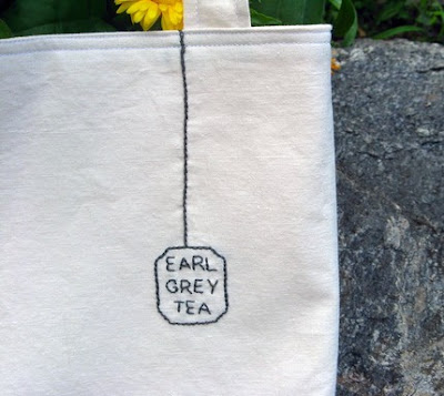 earl grey tea bag tote from ratherwhimsical