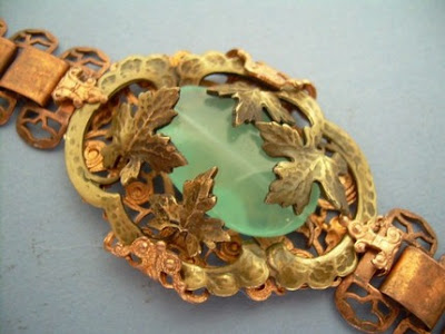 brass patina baroque style bracelet from axelscastle