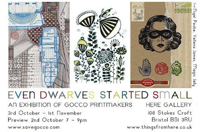 gocco printmakers at here gallery, bristol