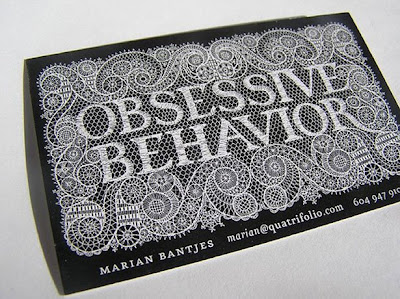 unique graphic design business card by obessive behaviour