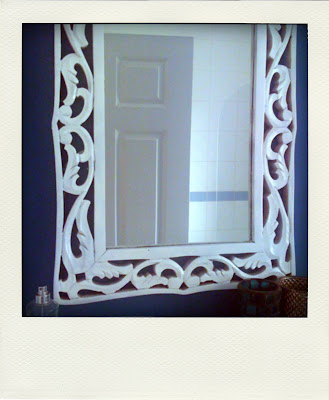 how to spray paint a white mirror makeover tutorial do it yourself