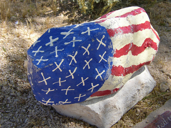 The local children painted this rock for our MOUNTAIN-VIEW PARK