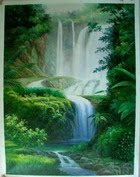 Waterfall Landscape Photos,  Natural Landscape Painting - Free Landscape Pictures
