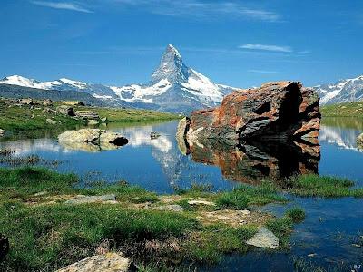 Landscape Matterhorn Lake, Landscape with Photography - Free Landscape Pictures