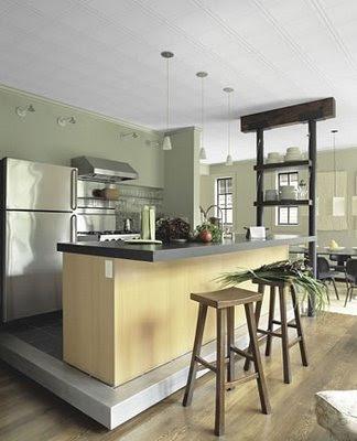 modern kitchen design with tiles