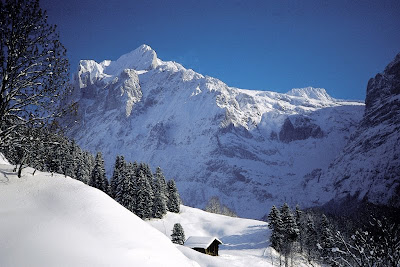 Winter Landscape Wetterhorn, Landscape Photos - Snow Landscape Wallpaper