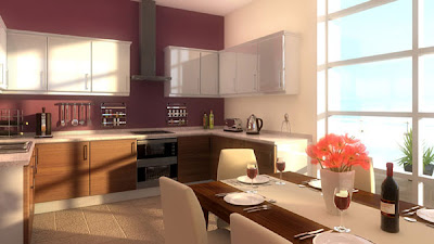 interior kitchen visualisation