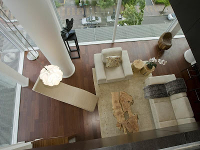 Cascadian Penthouse Loft Interior Design Project, Top view